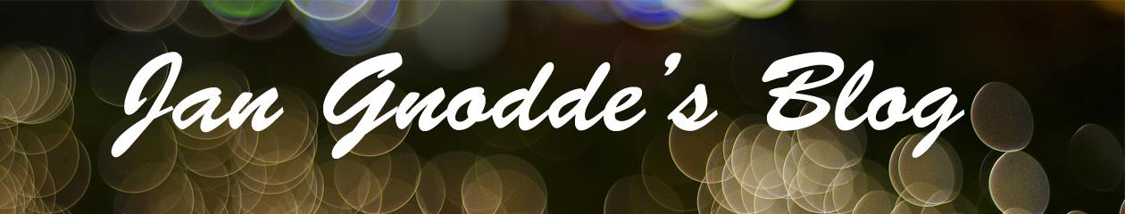 Jan Gnodde's Blog